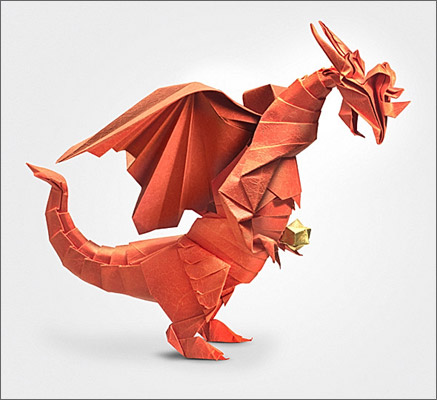 How To Make A Origami Dragon